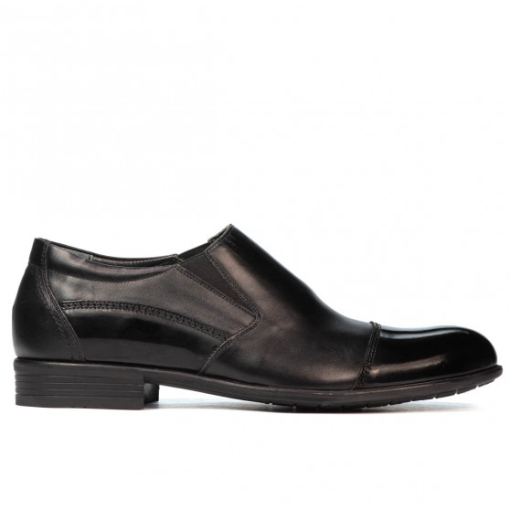 Men stylish, elegant shoes 765 patent black combined