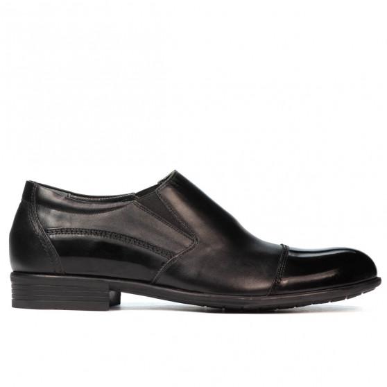 Pantofi eleganti barbati 765 lac negru combinat