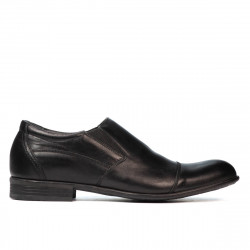 Men stylish, elegant shoes 765 black