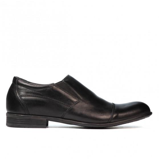 Men stylish, elegant shoes 765 black