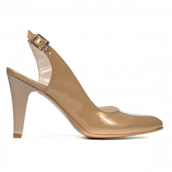 Women sandals 1236 patent beige