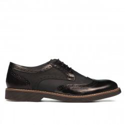 Pantofi casual barbati 826 negru combinat