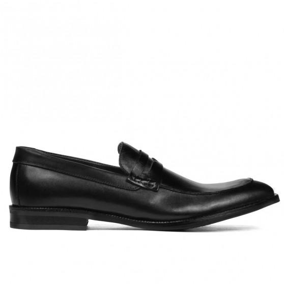 Men stylish, elegant shoes 815 black