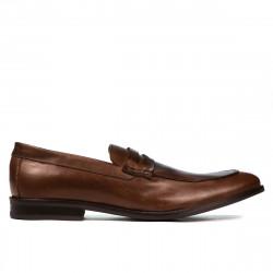 Men stylish, elegant shoes 815 brown