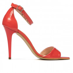 Women sandals 1238 patent red coral