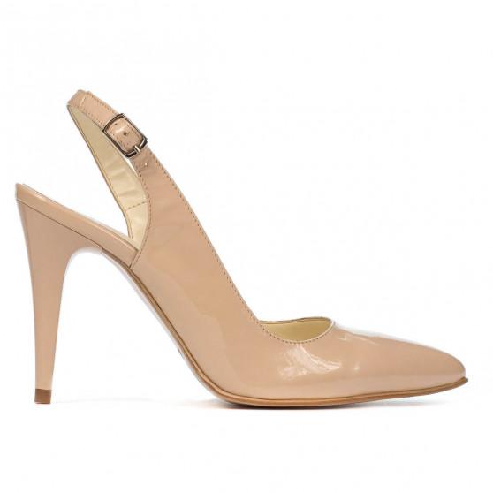 Women sandals 1249 patent ivory