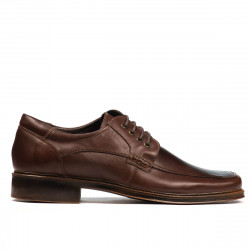 Men stylish, elegant shoes 790 brown