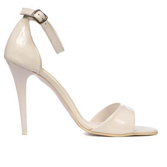 Women sandals 1238 patent white