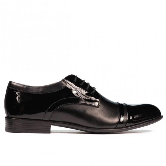 Pantofi eleganti barbati 763 lac negru combinat