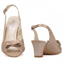 Sandale dama 1251 lac bej sidef
