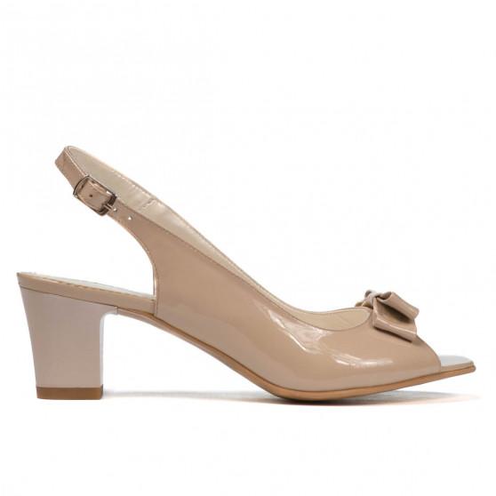 Women sandals 1251 patent beige pearl