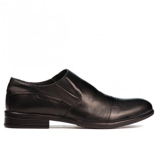 Men stylish, elegant shoes 868 black