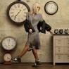 Ghete dama 3351 negru combinat lifestyle