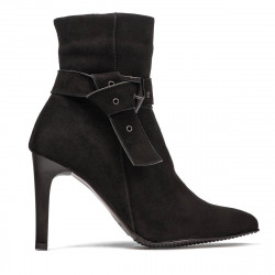 Women boots 1182 black antilopa