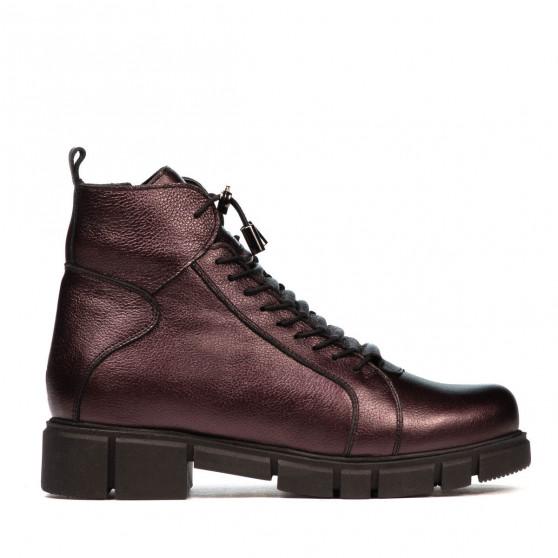 Women boots 3355 purple pearl