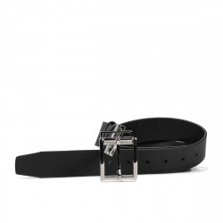 Men belt 36b biz black+black mat