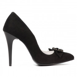 Pantofi eleganti dama 1279 negru antilopa