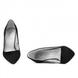 Pantofi eleganti dama 1278 negru antilopa