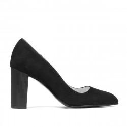 Women stylish, elegant shoes 1278 black antilopa