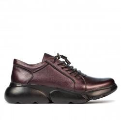 Women casual shoes 6032 purple pearl