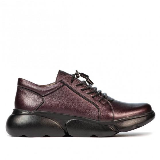 Pantofi casual dama 6032 mov sidef
