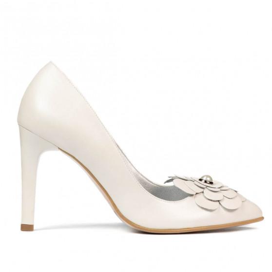 Pantofi eleganti dama 1282 alb fildes