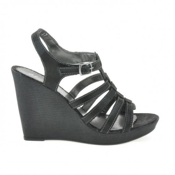 Sandale dama 575 negru satinat