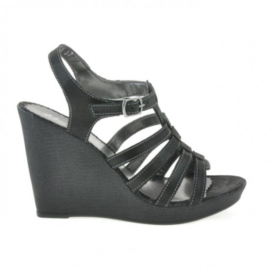 Women sandals 575 black satinat