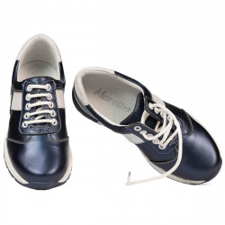 Pantofi copii 2005 indigo sifef+alb