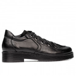 Women casual shoes 6026 black combined