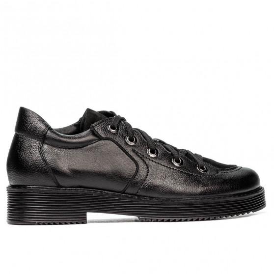 Pantofi casual dama 6026 negru combinat