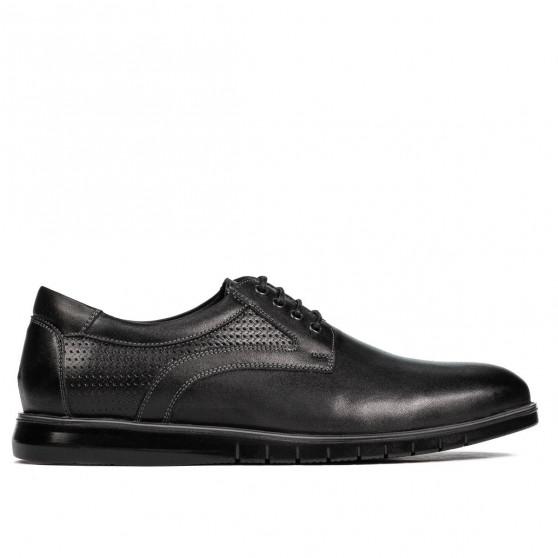 Pantofi casual 929 negru combinat