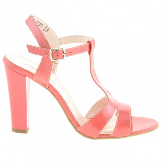 Women sandals 1239 patent red coral