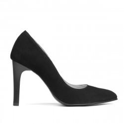 Pantofi eleganti dama 1276 negru antilopa
