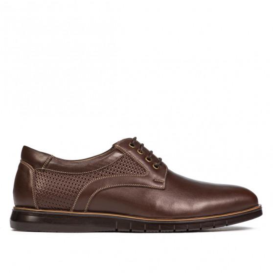 Pantofi casual 929 maro combinat
