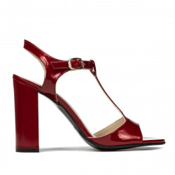 Women sandals 1258 patent burgundy