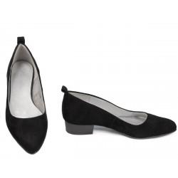 Pantofi eleganti/casual dama 1285 negru antilopa