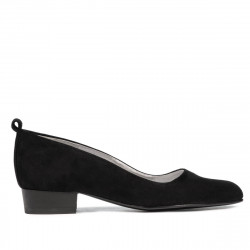 Women stylish, elegant, casual shoes 1285 black antilopa
