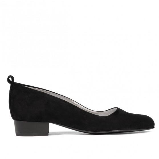 Women stylish, elegant, casual shoes 1285 black antilopa