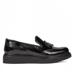 Pantofi casual dama 659 lac negru