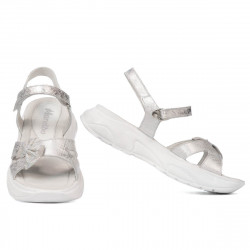 Children sandals 538 white pearl (silver)