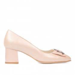 Women stylish, elegant shoes 1274 pudra pearl