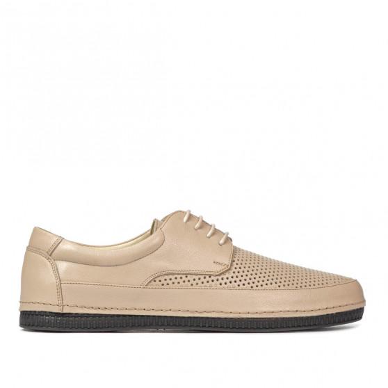 Men loafers, moccasins 921 beige