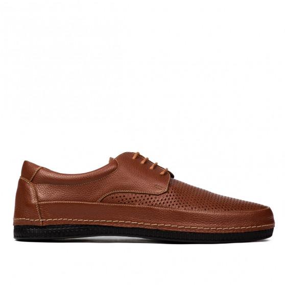 Men loafers, moccasins 921 brown