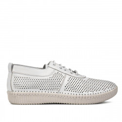 Women loafers, moccasins 6034 white