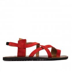 Sandale dama 5076 rosu corai velur