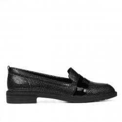 Pantofi casual/eleganti dama 6037 negru sidef combinat
