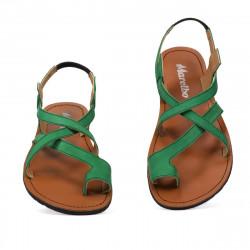 Sandale dama 5076 verde velur