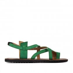 Women sandals 5076 green velour