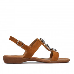 Women sandals 5073 camel velour